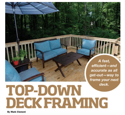 Top-Down Deck Framing Extreme How To Magazine Cover Photo