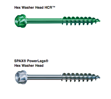 Hex Washer Head HCR and PowerLags Hex Washer Head Outdoor Project Screws